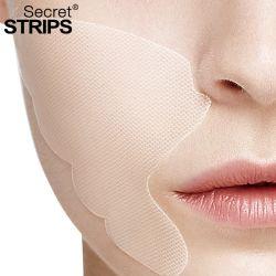 Tiras de secreto de etiqueta privada de la hoja de Mascarilla Facial Cuidado de piel de los pliegues nasolabiales pegatina