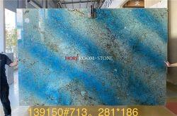 Pietra di marmo blu naturale unica del pavimento lussuoso della parete interna