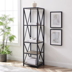 Unidades de almacenamiento de Sala de estar estante de madera estante de almacenamiento de metal