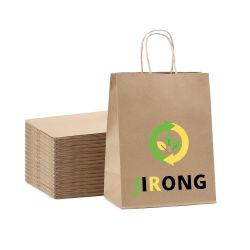 حقيبة هدايا صديقة للبيئة من ورق كرافت يمكن إعادة استخدامها