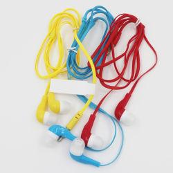 Preiswerter Preis färbt 3.5mm der Flachdraht MP3-Kopfhörer-Kopfhörer-Kopfhörer ohne Mic-Champion