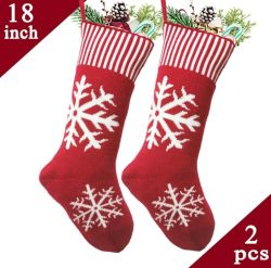Los recién llegados impreso personalizado Christmas Stocking gris Stocking, la forma de bolsa de regalo de Navidad
