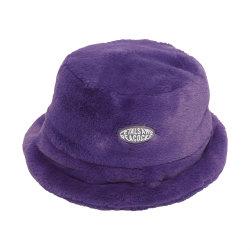 カスタムロゴの女性冬のプラシ天の魚の帽子の方法偽造品のウサギの毛皮の暖かい帽子