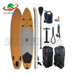 El año 2020 Popular Diseño inflable Bamboo Sup paddle board Stand Up Paddle Board de Surf