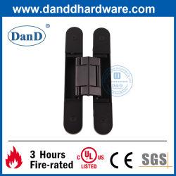 Accessori per porte da costruzione nere matte regolabili 3D per impieghi pesanti Cerniera esterna nascosta invisibile composita della portiera porta nascosta in lega di zinco Cerniera
