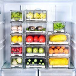Contenitori in plastica trasparente quadrati in plastica trasparente per la conservazione a caldo Organizzazione e conservazione del frigorifero