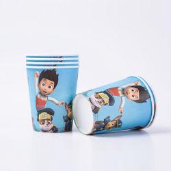 Novo Design de patrulha da pata meninos filhos decorações festa de aniversário de copos de papel com balão Chuveiro Bebê Placas de louça de suprimentos descartáveis