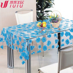 テーブルクロスファブリック白いサテン、防水最新のデザイン印刷(WF-3312B)