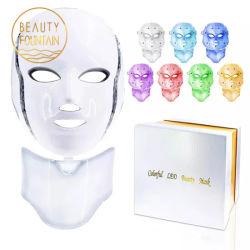 7 cores Korean Photon Therapy Machine Light Therapy Acne facial Máscara Máscara facial LED de beleza do pescoço