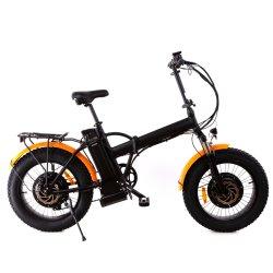 20inch脂肪質のタイヤ1000ワット電気浜のEバイクの後部キャリアラックが付いているFoldable雪のバイク