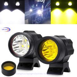 Мотоцикл ходовые огни, 2 ПК 50W универсальный фонарь направленного света фар работает противотуманные фонари желтого цвета крышки 12V 24V импульсная лампа мигает белым светом с жгута проводов