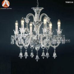 Petits chandeliers avec feux de verre Candle-Shaped chaud