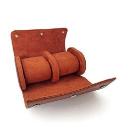 2 ranhuras de luxo em couro Personalizado Caixas de relógios casos com logotipo da embalagem