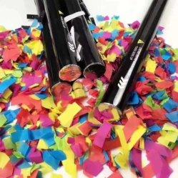 Fiesta de Navidad fiesta de fuegos artificiales Confetti papel Arco iris