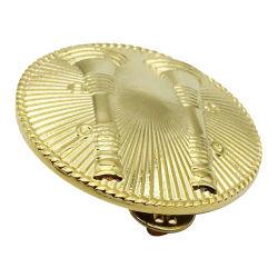 Hierro y cobre/latón /insignias de aleación de zinc con grabado láser Sandblased/artesanía