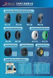 China-Vollreifen-fester Reifen 10-16.5 12-16.5 Rotluchs Skidsteer Ladevorrichtungs-Gummireifen