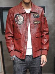Moda Otoño Invierno Slim Fit Faux Leather MOTOCICLETA VINTAGE hombres''s chaquetas abrigos