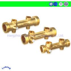 Contador de água de ultra-sónico AMR tubo, feitas de latão com válvula de esfera motorizadas DC opcional para Iot/HVAC/Energia/monitoração de calor