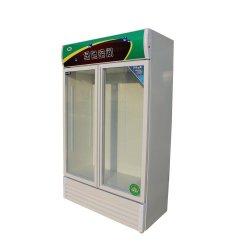 RoHS genehmigte doppelte Tür-Nahrung&Beverage aufrechtes Abkühlung-Gerät