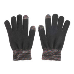 Moda Invierno tejer múltiples hilos metálicos de colores mezclados guante