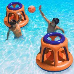 PVC 불팽창식 농구 Hoop Pool Floating Toys Kids Swing Pool 스포츠 경기 어린이 수상 농구 스탠드