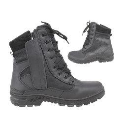حذاء رياضي عامل مكتب أسود مزدوج آمن للمحترفين من شركة Police Black Office حذاء مطاطي تكتيكي للرجال