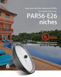 Substituição de Alumínio de Alta Tensão 20W Niche Astral Piscina PAR LED Light 12V E26 Base Edison