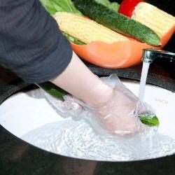 Einweg PE Glovestransparent Handschuhe Puderfreie Hand Handschuhe PLA StrawSafety Handschuhe Holz Eis Sticksplastic Film Glovestransparent Glovesgood