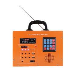 الدفع أثناء الذهاب أطقم إضاءة المنازل الشمسية LED نظام الطاقة الشمسية راديو FM نظام مشغل الموسيقى