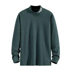 Der Qualitäts-Wärmeübertragung-Hemden hohe Muffen-Halsausschnitt-lange Hülsen-beiläufigen Männer