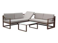 Drei Seater Sofa mit faltbare Gegenständer Sunlounger Freizeit-im Freiengarten-Gewebe-Patio-Sofa-Möbeln