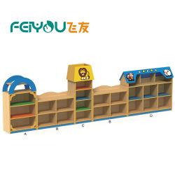 Les enfants de meubles en bois armoire étagère