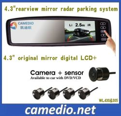 4.3inch Rearview Mirror Car Parking Sensor System