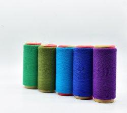 16s Couleurs des fils de polyester coton recyclé pour Socks Knitting