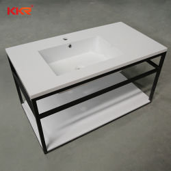 Kignkonreeの流行の黒いステンレス鋼ベース樹脂の石の浴室の衛生製品