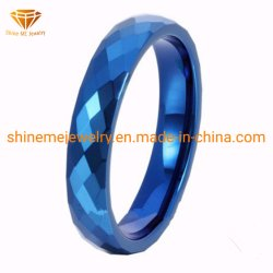 Shineme ювелирные изделия высокого качества многогранных синего цвета лампы накаливания кольцо (TSTBL14)