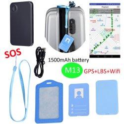 1500mAh ID do Smart Card Rastreador GPS pessoal com Botão de pânico Sos M13