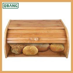 Parte superiore di rullo inferiore di bambù di legno del supporto del pane del contenitore di memoria dell'alimento della cucina del contenitore di pane Breadbox
