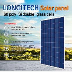 اللوحة الشمسية 60 خلية بولي سي مزدوجة الزجاج