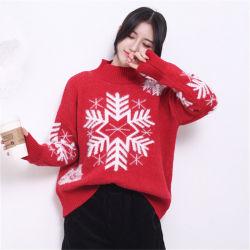 冬の最新の方法雪のジャカードタートル・ネックのクリスマスのセーター