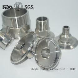 De sanitaire Adapter van de Metalen kap van de Pijp van de Koppeling van de Flexibele Slang van de TriKlem van de Pijp van het Roestvrij staal Hydraulische