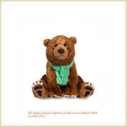 Angefüllter sitzender Eisbär mit Schal-Großverkauf-Tier-Spielwaren