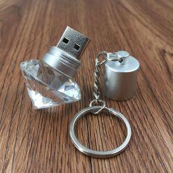 創造的で大きいダイヤモンドのPendrivesの透過水晶ダイヤモンドUSBのメモリ棒