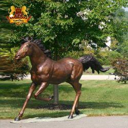 工場ハンドメイドの実物大の高品質の屋外の装飾のための真鍮の青銅色動物の馬の彫像の彫刻
