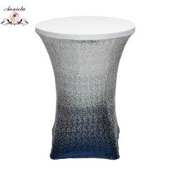Le spandex Cocktail chiffon Table Table nappe Sequin de mariage de superposition