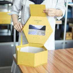 محترفة تصنيع حسب الطّلب مسدّس ذهبيّ مرئيّة يعبّئ صندوق 7 بوصة [لكد] عرض [جفت بوإكس] لأنّ حل زهرة ترويجيّ