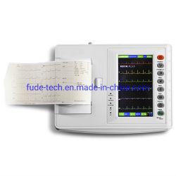 Eletrocardiógrafo digital portátil com 6 canais
