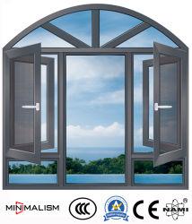 finestra di alluminio della stoffa per tendine dello SGS Certificete di 1.2-2.0mm/finestra di alluminio con la rete metallica
