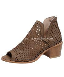 Les femmes PU sandales de filtre en coin de blocage