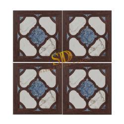 Haut de la classe la Sodalite Blue Marble et incrustation en bois/Médaillon Parquet carreaux pour salle de séjour dans Villa/Palace